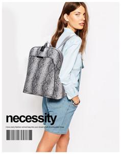 European and American style design new shoulder bag fashion snake pattern ladies backpack travel bag student bag wholesale