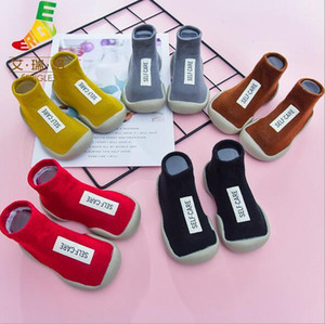 Spring and autumn new alphabet socks shoes casual low-top socks baby children's shoes baby non-slip toddler shoes