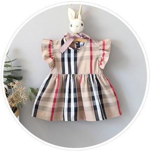 6-24months neonato nuovo vestito infantile del neonate del vestito di estate casuale principessa partito Tutu Solid Dressss