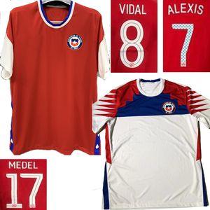 Größe S-3XL 2020 MEDEL Chile nach Hause Red weg weißen Männer Copa América ALEXIS VIDAL Fußball-Trikot E.VARGAS camiseta de fútbol Fußball Trikot 2020