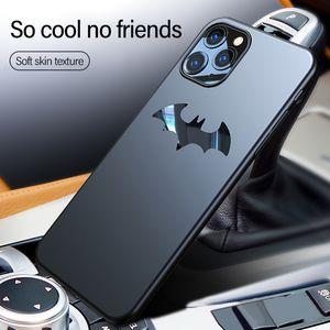 Ультра-тонкий металл Batman Матовый PC Phone чехол для iPhone 11 Pro Max SE XSmax XR XS X 8 7 6s 6P Магнитная крышка