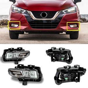 Автомобильные противотуманные фары для N-issan Sunny / VERSA 2019-ON Clear Front Bumper Fog Lamp Replace Assembly kit (одна пара)