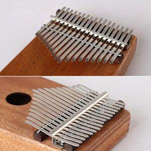 Smooth Stringed Instrument Rustproof Replacement Kalimba Shrapnel Fingertip Piano Manganese Steel Crisp Sound 17 Keys Exercise