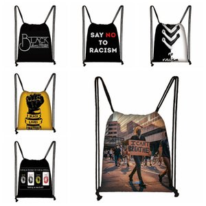 Black Tr Matter Drawstring Floyd Bags Bag CAN'T Parade Printed R3150 George Backpack Storage Lives BREATHE Portable Ghit 19styles Shopp Gtvk