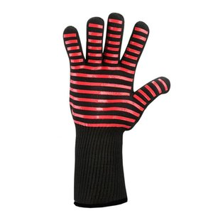 1pc 2pcs Heat Resistant Silicone Anti-skid Oven Glue Gloves Baking Cooking Grilling Helper Long Mitt