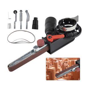 Multifuncional Mini Rebarbadora DIY Sander Lixar Belt Adaptador Bandfile Belt Sander Uso Para 115 / 125mm Elétrica Angle Grinder