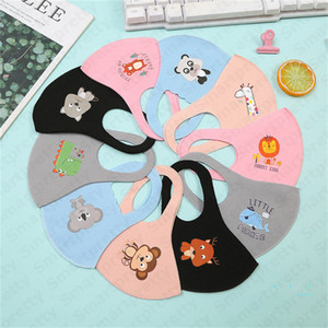 Kinder Schwamm Maske Waschbar Schutz Gesichtsmasken Nette 3D Cartoon Mund Muffel Kind Jungen Mädchen Mund Abdeckung PM2. 5 Dunst Masken Für 4-12 T E32001