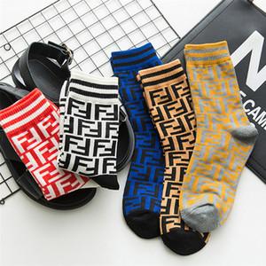 5 colori Calza nuova tendenza Lettera stampata Uomo Donna Calze moda Calze calde di alta qualità Calze firmate Commercio all'ingrosso EJY716