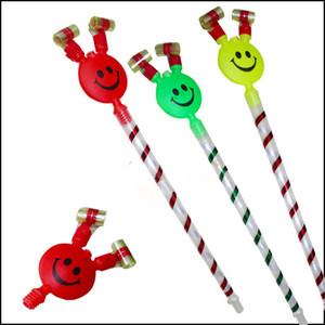 37 centímetros de comprimento, Sorrir, Festa de aniversário das crianças coloridas Whistles Crianças sopro do dragão Aniversário do bebê Blowout Suprimentos Brinquedos presentes
