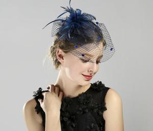 Donne Mesh Party Hat Fascinators Hats party Women Elegante abito formale copricapo da sposa Veli maglia Lady evento