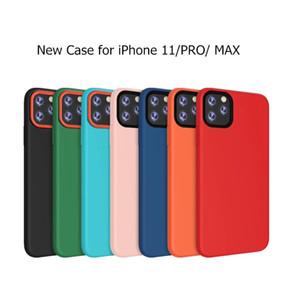 Nueva funda de silicona sólida para iPhone 11 Pro Max Pure Color Soft Back Cover para Apple 6S 7 8 Plus XR XS