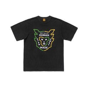 camicie 2020 primavera-estate di lusso made umani da Nigo Monkey Head maglietta Moda Uomo Designer donne in cotone manica corta Top