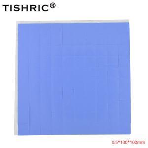 I fan mucchio di raffreddamento TISHRIC 100 * 100 * 0,5 millimetri conduttivo silicone GPU CPU rilievi termici 0,5 mm dissipatore di calore dissipatore Grasso pasta adesiva PC Fan ...