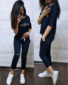 Designer Women Tracksuit Shorts Outfits Sportswear Shirt Top + Pants 2 Piece Pants Set Woman Womens Ladies Sweatsuits Clothes