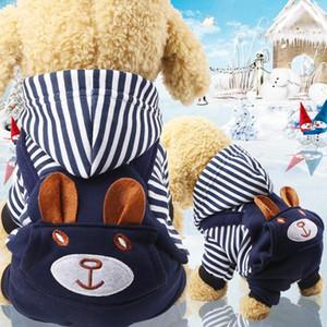Barato Quatro pés flanela vestuário de médio porte cão roupa cão roupa grossa roupas pet gato outwear gato pet dog coat puppy coat