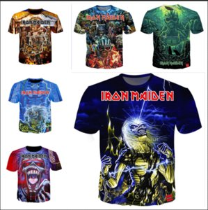 Neueste Neuheit Streetwear Männer Frau Iron Maiden Sommer Stil Lustige 3D Print Lässig Oansatz T-Shirt Tops Plus Größe WW0202