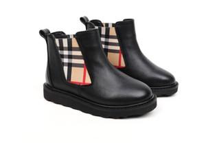 botas curtas primeira camada do couro 2020 outono e inverno meninas antiderrapante quente botas Martin botas crianças bebê 210