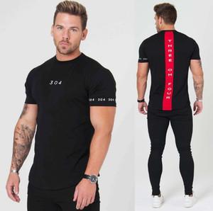 New Gymnases Vêtements Fitness Hommes Tees Mode Extend Hip Hop été à manches courtes T-shirt en coton culturisme Muscle Guys