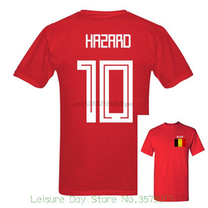 Letter 2020 Russia World Match Cup 10 Crewneck T Shirt Cotton Tee Selling Belgium Hazard Number 10 Mens Fans Footballer Unisex