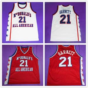 Mcdonald's All RETRO American Kevin Garnett #21 ретро баскетбольная Майка мужская сшитая на заказ номер имя Майки