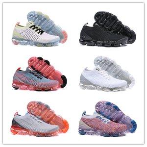 vapor Vente en gros Hommes Femmes Fly Knit 2.0 Sneakers Chaussures de course Sport Triple Noir Université Blanc Platinum Baskets Sneakers Designer