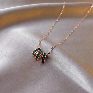 Delicate Menina de jóias colar de pingente de mulheres completa Diamond Circle Pendant de luxo Pierscionki Lady Colar Casamento elegante