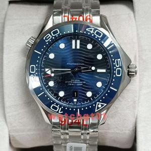 Reloj de los hombres de lujo para hombre 41.5mm coaxial Profesional 300 James Bond 007 maestra línea gris automático de los relojes del movimiento de los hombres de acero de pulsera