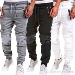 Harem Hiphop Mens Pants GYM Casual Athletic Pants Sports lápis Jogger Calças Pockets Designer Calças Jogger Pants Moda