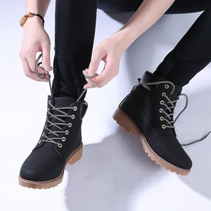 Winter Boots Women Shoes 2018 New British Wind Warm Students Flat Women Snow Boots Velvet Martin Ankle Boots Shoes Woman