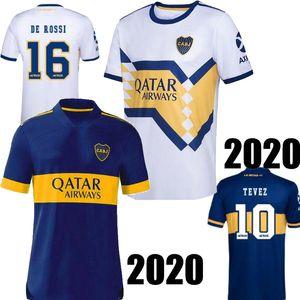 Tamaño S-2XL 2020 Boca Juniors DE ROSSI Inicio azul blanco ausente de los hombres del fútbol Jersey TEVEZ MARADONA ABILA Boca camisa de futebol camiseta de fútbol 2021