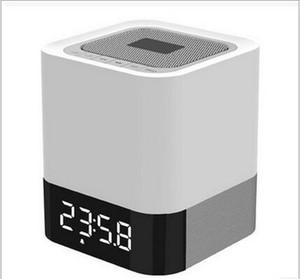 by dhl 50pcs Wireless Bluetooth4.0 Speaker Box Charging Alarm Clock Dual USB Ports Speakers