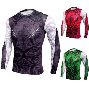 Men's Compression Base Layer Running Shirt Workout Gym TShirt Training Fitness Clothes Sport Tops Tees Rashguard Sportswear