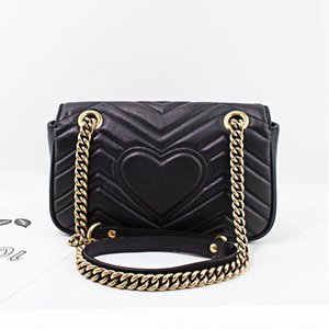 Top-quality Designer Luxury Marmont Small Chain Shoulder Bags for Women Mini Crossbody Belt Handbags With Gift Boxes 446744 443497