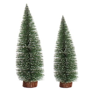 Promotion! 2 Pcs Mini Christmas Tree a Small Pine Tree Placed in the Desktop Christmas Decoration for Home Xmas (20Cm & 15Cm)