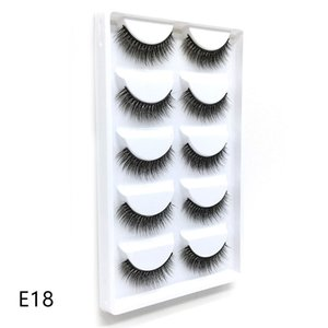 New style wholesale price E18 free shipping 5 pairs 3d mink silk strip false eyelashes high quality
