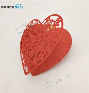 50pcs free shipping Laser Cut Love Heart DIY Paper Wish Card Hang Tag Message Card Wedding Favors Party Decoration Book Mark