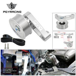 PQY - محركات قابل للتعديل EP3 البكرة عدة للحصول على هوندا سيفيك 8TH 9 جميع K20 K24 مع الموتر السيارات حافظ A / C المثبتة CPY01 / 02