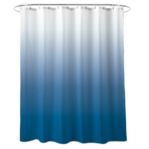Shower Curtain Blue for Bathroom Waterproof Gradient Color Design Fabric Shower Curtain Hook with Ring Attached, 72 Inches Long,