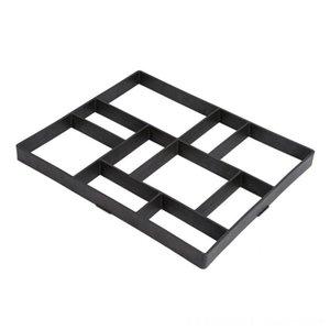 Bricolaje de plástico Ruta del molde del fabricante manual de pavimentación de ladrillos de cemento otros suministros Patio, Concreto Césped Jardín Moldes Moldes Stone Road Herramienta para el jardín