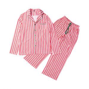 Assorti Ensemble De Pyjama De Noël Adulte Femmes Hommes Stripe Vêtements De Nuit Vêtements De Nuit 2017 Nouvelle Arrivée Automne Family Match Pjs Set