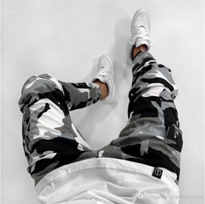 Камуфляж печати Mens Designer Jeans Fashion Mulit Карманы на молнии Тощий мужские брюки карандаш вскользь Самцы Одежда