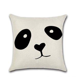 Pillow Covers Panda Impresso Throw Pillow Caso Geometria Covers Padrão Almofada Início decorativa Pillowcase preto e branco 14 Styles LQPYW1114