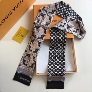 Luxus neuester heiße Marke kleiner Seidenschals Fabrikpreis Seidenschal New Design Fashion Mädchen Zubehör Kopf Schal-Frauen