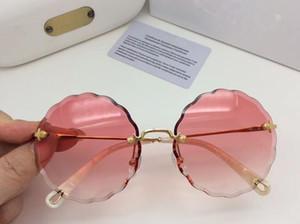 CE142S Hot Sale Da Moda Marca Designer Mulheres Polarizada Óculos De Sol Sem Aro Óculos De Sol Redonda Frame Polarizing lens Com Caixa