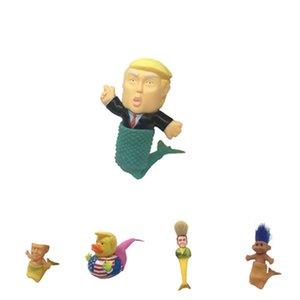 Creativas 2.020 juguetes de dibujos animados Trump artificial sirena ornamento blando del partido Juguetes sirena Favor 5 estilos T2I51012
