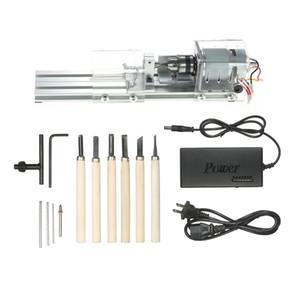 100W DIY токарный станок Мини токарный станок Mini Torno фрезерный станок деревообрабатывающий Деревообрабатывающий шлифовального Полировка Дрель инструмент