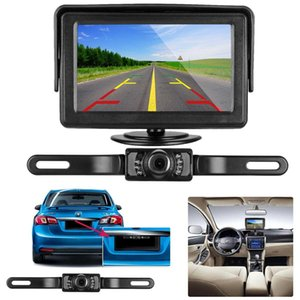 HD Car Rear View Backup Camera of License Plate for Truck & RV with The Features of IP68 Waterproof High Brightness Light Sensor NightBackup