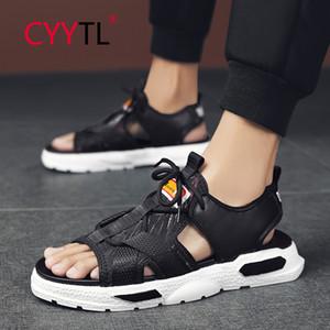 CYYTL Лето Мужчины Сандалии Открытый пляж Платформа Комфортные Open Toe обувь дышащая воды вскользь Тапочки Sandale Homme