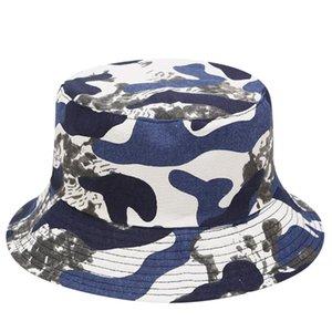 Unisexe homme et femme Cap Porter sur les deux côtés Chapeaux Sunscreen plage Bohême Hipster Harajuku Bucket Vintage chapeau de pêcheur # C45