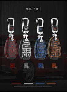 For alfa romeo giulia 2017 2018 alfa romeo stelvio car-styling Brand New High Quality leather remote key Case Cover Holder